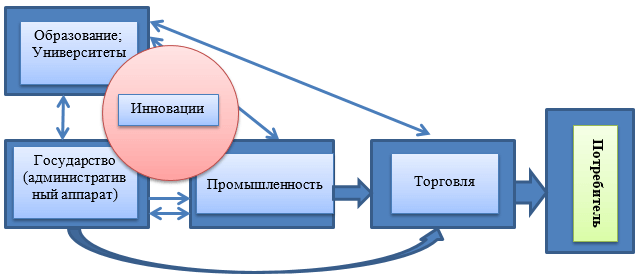 Организационная система функционирования участников в процессе формирования регионального продукта